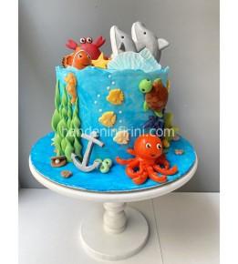 Deniz Canlıları Pasta