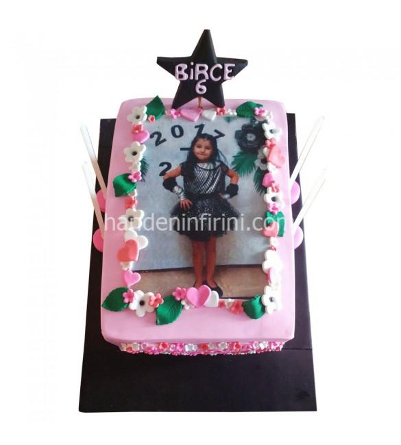 Fotoğraf Baskılı Doğum Günü Pastası