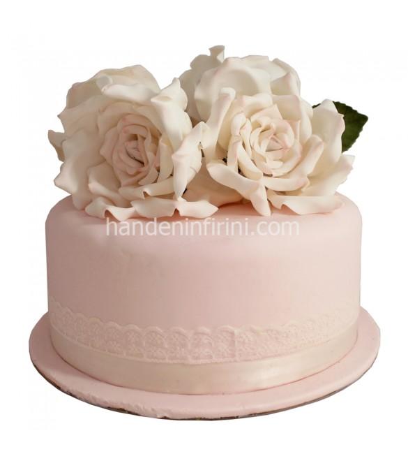 Güllü Düğün Pastası
