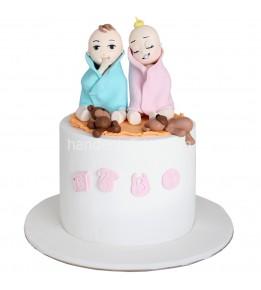 İkiz Bebek Pastası