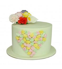 Kalpli Çiçek Pasta