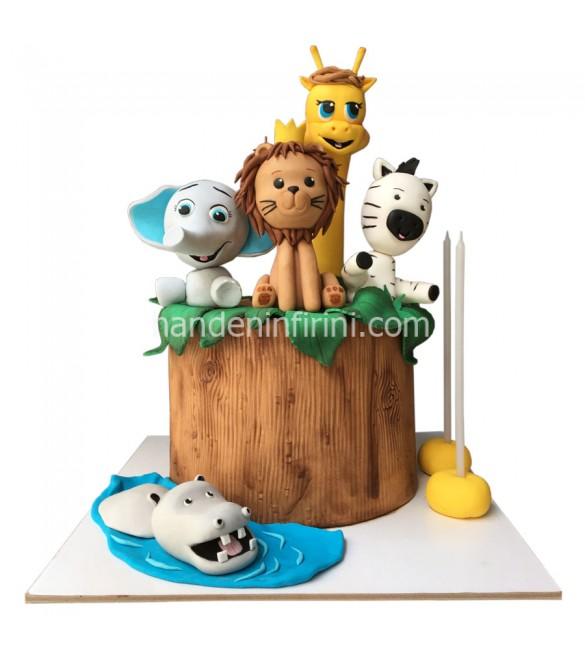 Mutlu Hayvanlar Doğum Günü Pastası