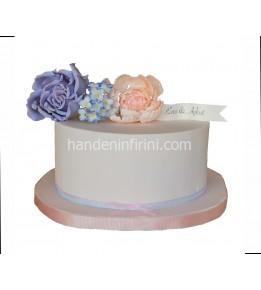Nişan Pastası Çiçekli 2
