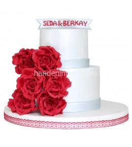 Nişan Pastası Çiçekli 3