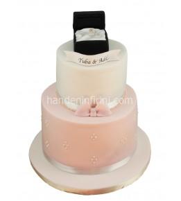 Nişan Pastası Yüzük Kutusu