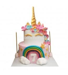 Unicorn Gökkuşağı Pasta