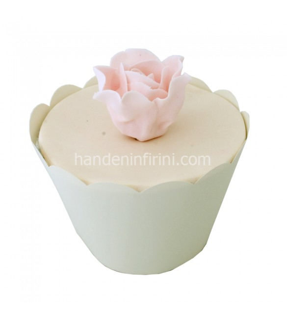 Pembe Gül Cupcake