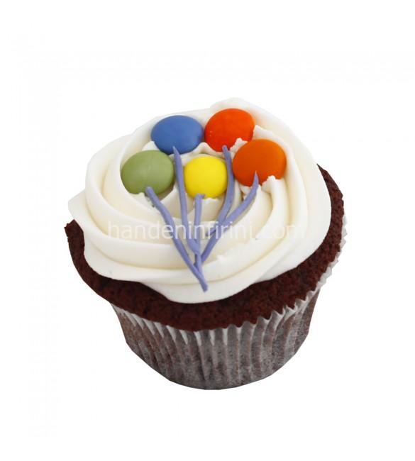 Kremalı Balon Cupcake
