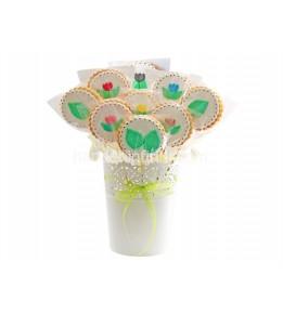 Çiçek Kurabiye Saksılı