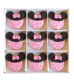 Minnie Mouse Doğumgünü Kurabiye Seti